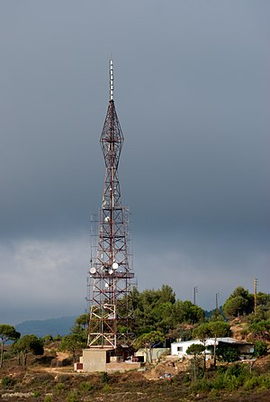 Radio mast near Aabey
