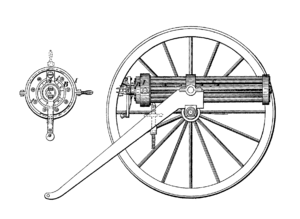 Ripley machine gun patent image, an early mach...