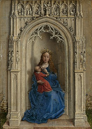 Robert Niche Painting : robert, niche, painting, Virgin, Child, Enthroned, Wikipedia