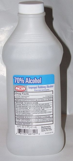 A bottle of Rubbing Alcohol