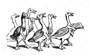 Illustration zu Sturmpetition der Enten, Der H...