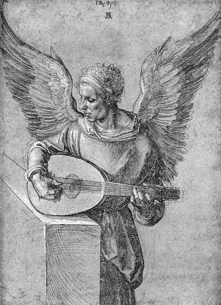 File:Albrecht Dürer - Winged Man, in Idealistic Clothing, Playing a Lute - WGA07044.jpg
