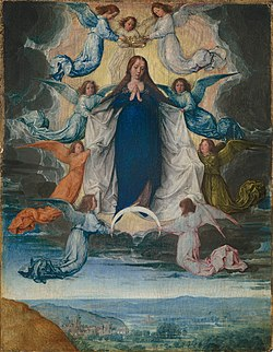 Ascension of the virgin Michel Sittow.jpg