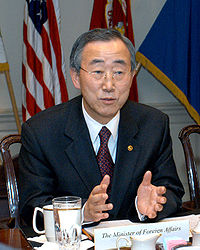 Ban Ki-Moon, FN:s ordförande.