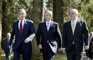 US President George W. Bush, UK Prime Minister...