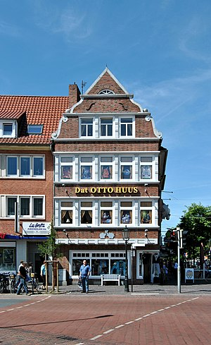 Deutsch: Ostseite vom Otto Huus, dem Haus von ...