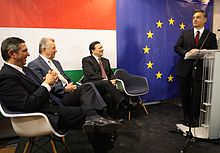 José Manuel Barroso, Stavros Lambrinidis, and Orbán in January 2011