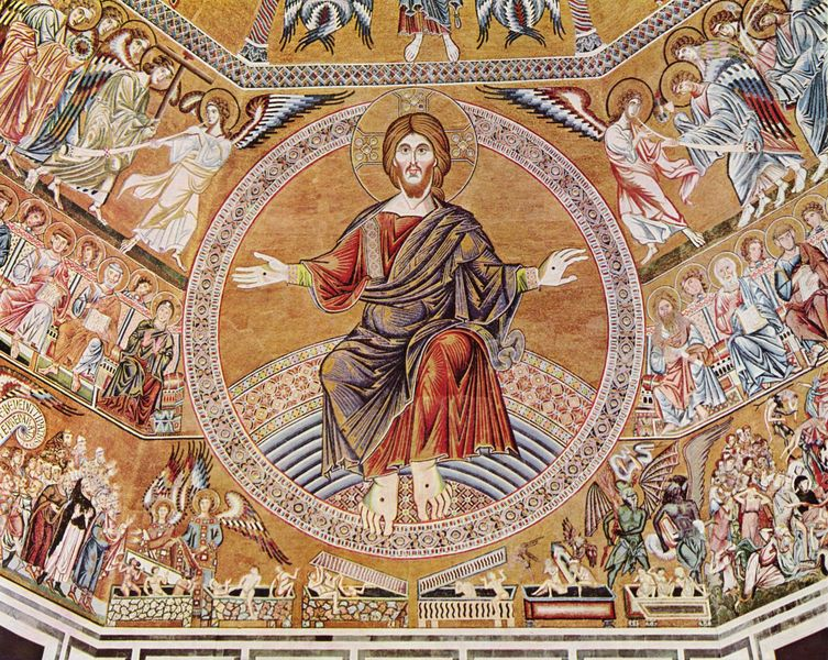 Christ Pantokrator and the Last Judgement (mosaic, Baptistry of San Giovanni in Florence, c. 1300)