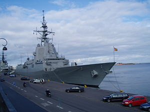 English: Spanish frigate Blas de Lezo at port ...