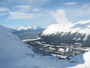 View of Girdwood, Alaska from Mt. Alyeska.