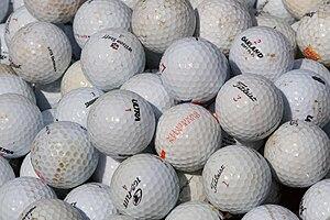 English: Golf balls.