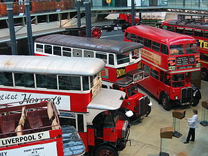 Interior of the London Transport Museum in 2004.