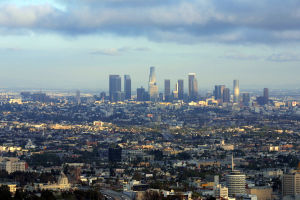 The expanding Los Angeles metropolitan area is...