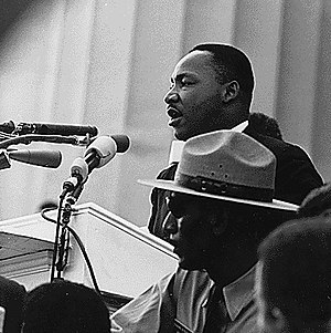 Dr. Martin Luther King, Jr. speaking at the Ci...