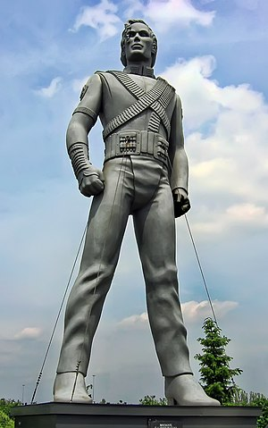 Statue of Michael Jackson in Eindhoven, the Ne...