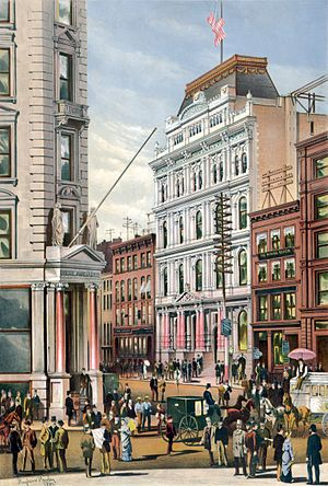 English: The New York Stock Exchange in 1882 b...
