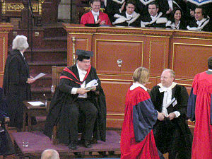 An Oxford degree ceremony — the Pro-Vice-Chanc...