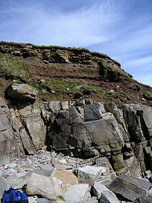 horizon diagram soil formation brain without labels wikipedia with broken rock fragments overlying bedrock sandside bay caithness