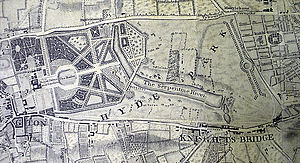 Detail from 1746 John Rocque London Map showin...