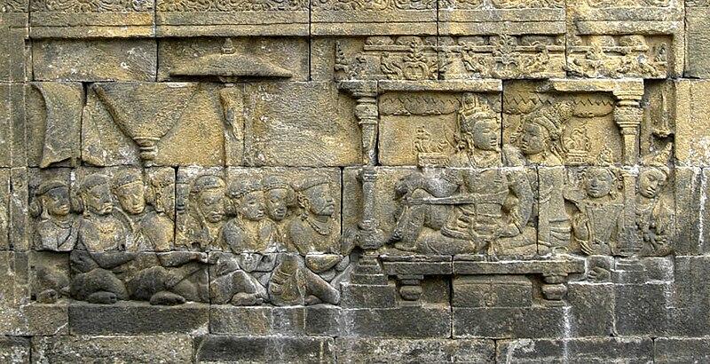 File:Sailendra King and Queen, Borobudur.jpg
