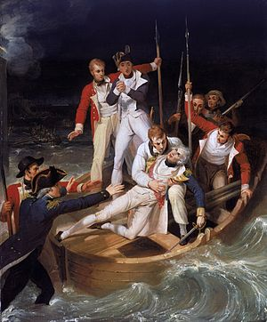 Nelson wounded during the battle of Santa Cruz...