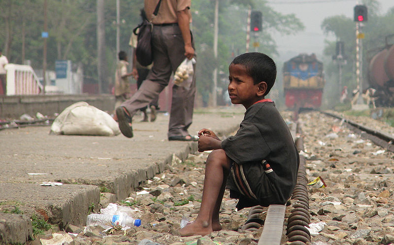 File:Street Child, Srimangal Railway Station.jpg