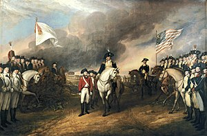 Depiction by John Trumbull of the surrender of...