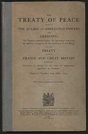 Treaty of Versailles  Wikipedia