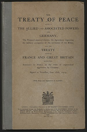 The cover of a publication of the Treaty of Ve...