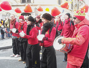 English: Paris Carnival parade, Valentine's Da...
