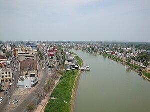 Español: Panorámica del río Grijalva un su pas...