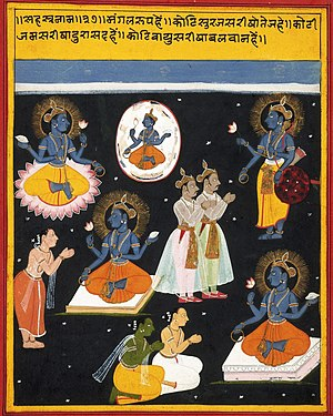 Vishnu sahasranama manuscript, ca 1690. Vishnu...