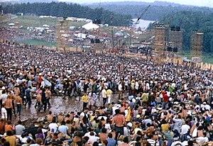 Festival de Woodstock em 1969.
