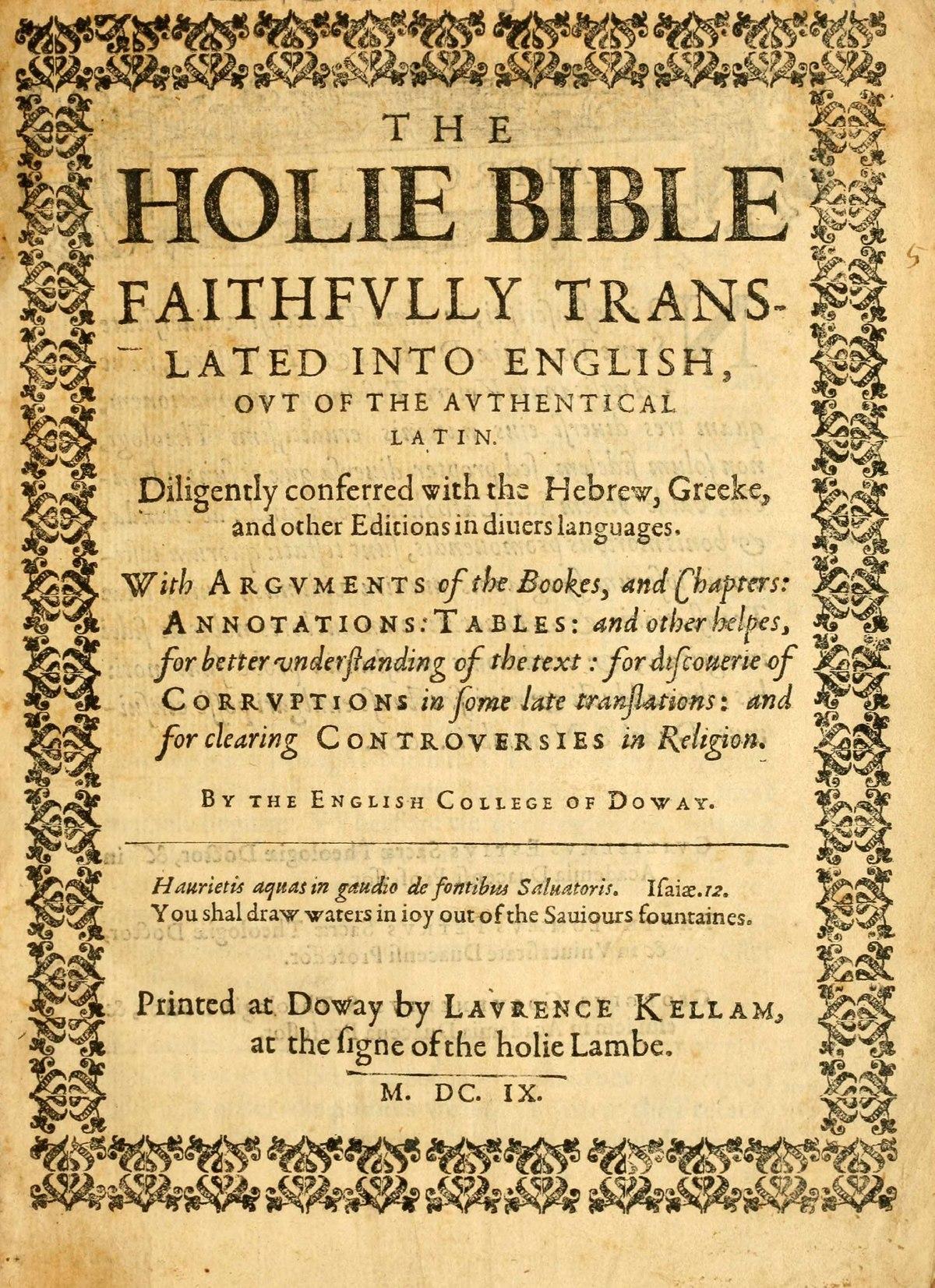 Douay Rheims Bible