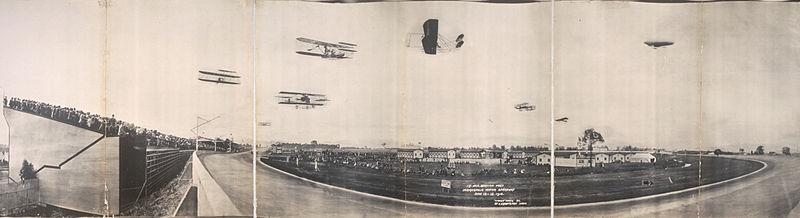 Primeiro encontro americano de aviação, Indianapolis, EUA, junho de 1910.