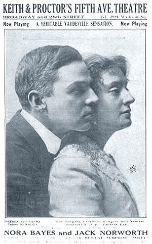 English: Photo of Jack Norworth and Nora Bayes...