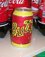 La Buzz-Cola, messa in commercio in America come parte della promozione per l'uscita del film.