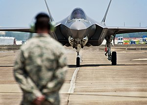 English: U.S. Air Force F-35 Lightning II join...