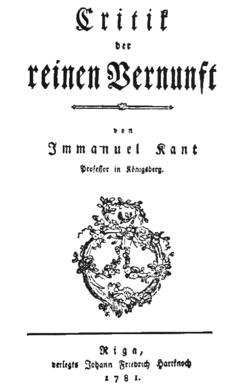 Kant Critique De La Raison Pure : critique, raison, Critique, Raison, Wikipédia