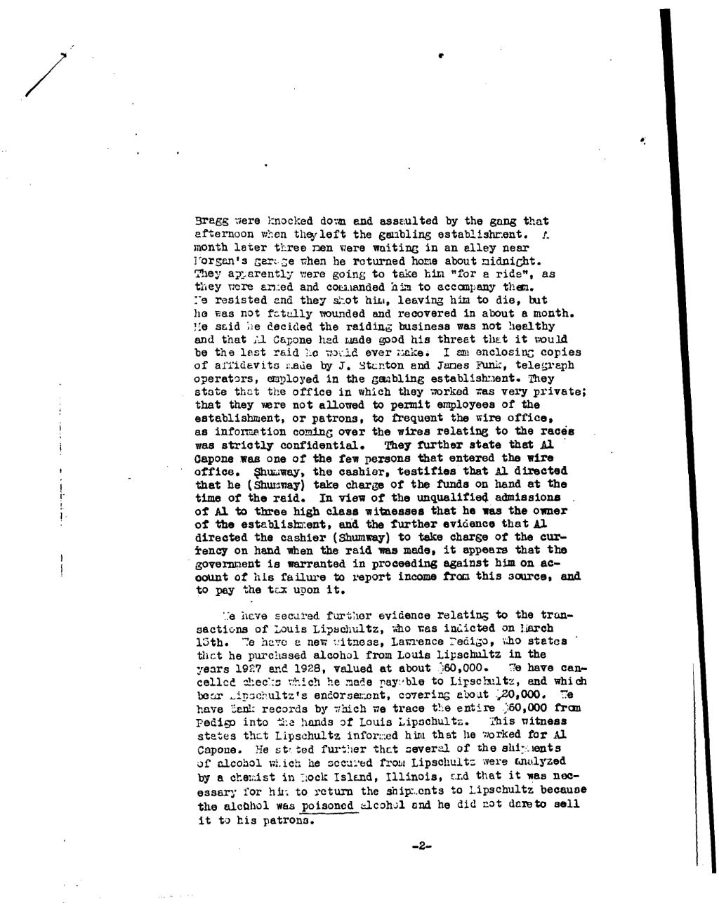 Page:Letter from Frank Wilson updating the Capone