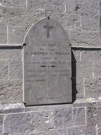 Liessies (Nord, Fr) plaque commémorative 1870.jpg