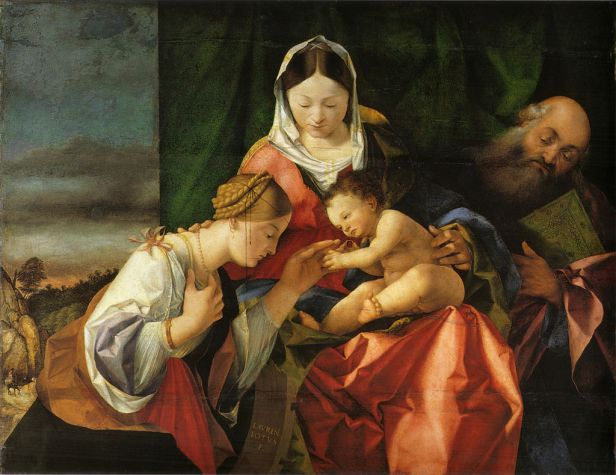 """""""The Mystical Marriage of Saint Catherine"""" by Lorenzo Lotto"""