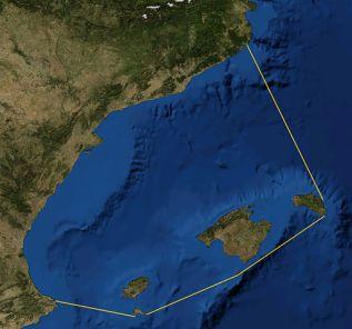 Mar Balear delineada