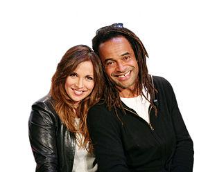 Hélène Ségara with Yannick Noah