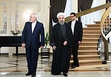 Rouhani designated Mohammad Javad Zarif (left), an experienced Iranian diplomat, as foreign minister.