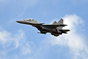 The Sukhoi Su-30 MKI (NATO reporting name Flan...