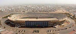 Stade Léopold Sédar Senghor à Dakar. Image was...