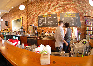 The downtown Stumptown Coffee cafe in Portland...