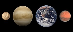 The terrestrial planets: Mercury, Venus, Earth...
