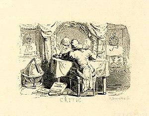 "English: Book illustration, ""The Critic&q..."